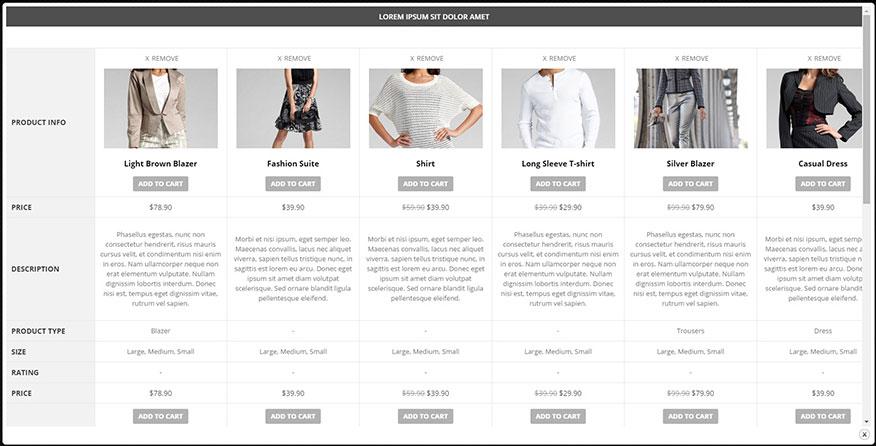 우커머스 상품 비교 플러그인 – YITH WooCommerce Compare