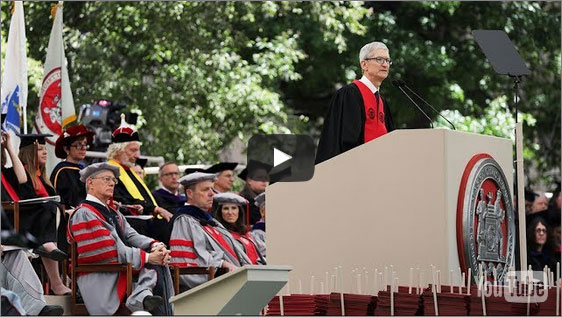 팀 쿡의 MIT 졸업축사 영상
