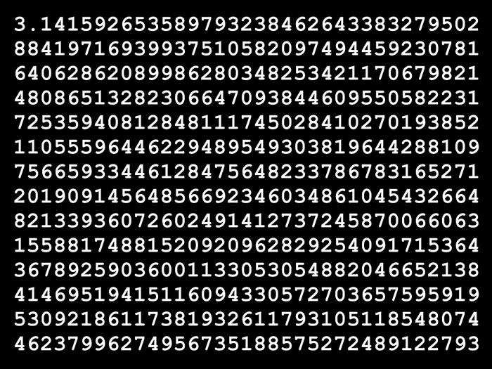 円周率(パイ)小数点暗記ギネス記録更新