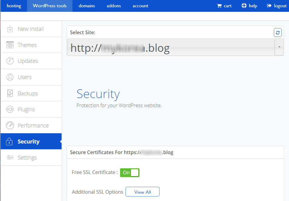 Bluehost 공유호스팅/VPS에서 무료 보안서버(SSL) 인증서 적용하기 4