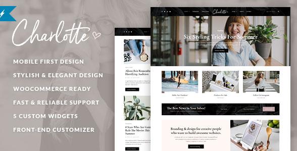 Charlotte  - すっきりとしたブログ WordPress テーマ