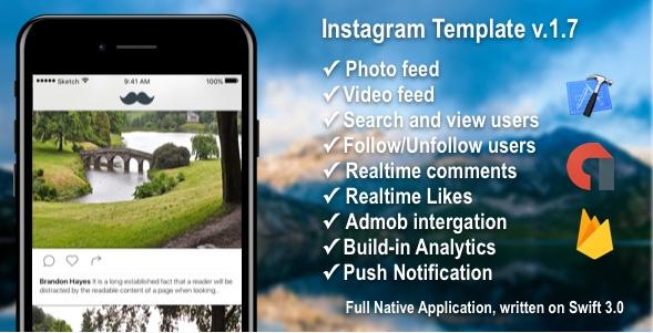 今月の無料ダウンロード(2017年7月) -  Instagram iOSテンプレート3
