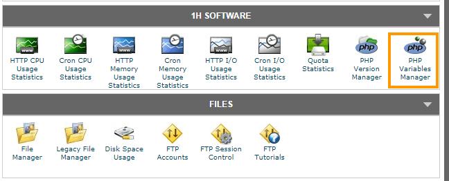 PHP Variables Manager Siteground compressor - 해외 호스팅 Siteground에서 PHP 설정 값 변경하기