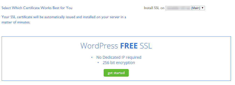 bluehost vps users can install free ssl certificates for wordpress ...