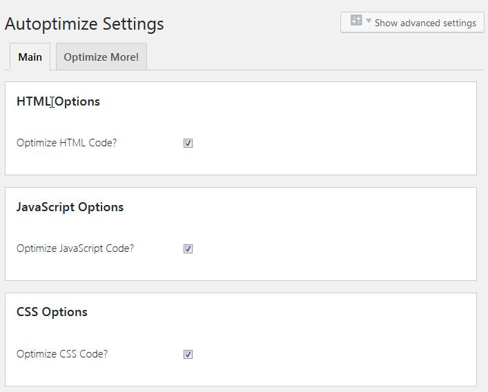 WordPress サイトの最適化プラグインAutoptimize
