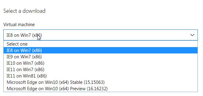 仮想マシンをダウンロードしてIE8は、IE9の互換性をテストする11