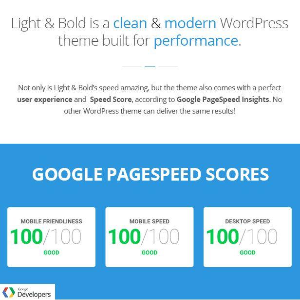 The fastest WordPress theme I\'ve found - Light & Bold - WordPress ...
