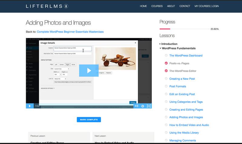 WordPress LMS(学習管理システム)のプラグインLifterLMSスクリーンショット19