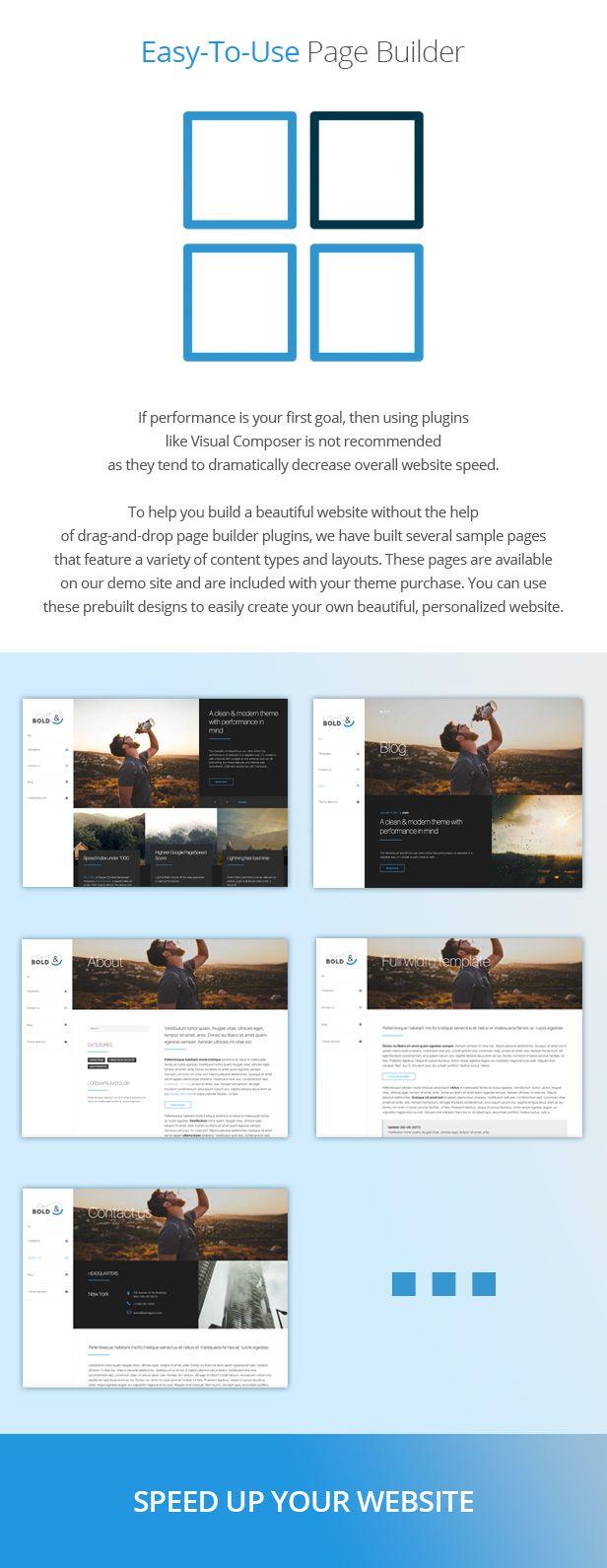 Page Builder  - 速度に重点を置いたワードプレスのテーマ -  Light&Bold