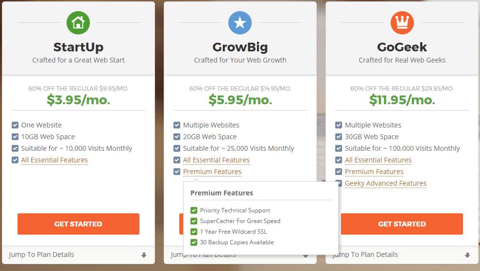 Siteground Plans compressor - [해외 호스팅] Siteground에서 Memcached를 사용하여 사이트 속도 향상하기