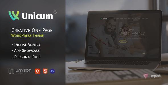今月の無料ダウンロード(2017年9月) -  Unicumウォンページ WordPress テーマ3