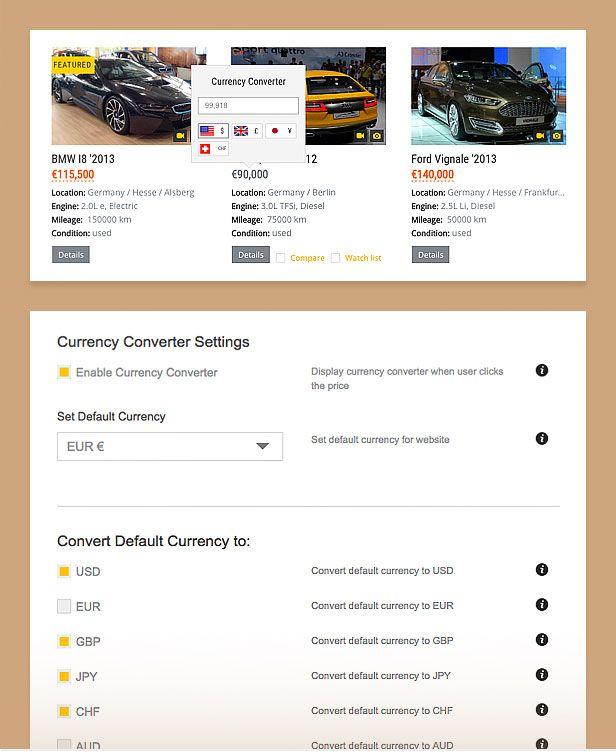 auto dealer currency converter compressor  -  Car Dealer Automotive  - カーディーラー、自動車のワードプレスのテーマ