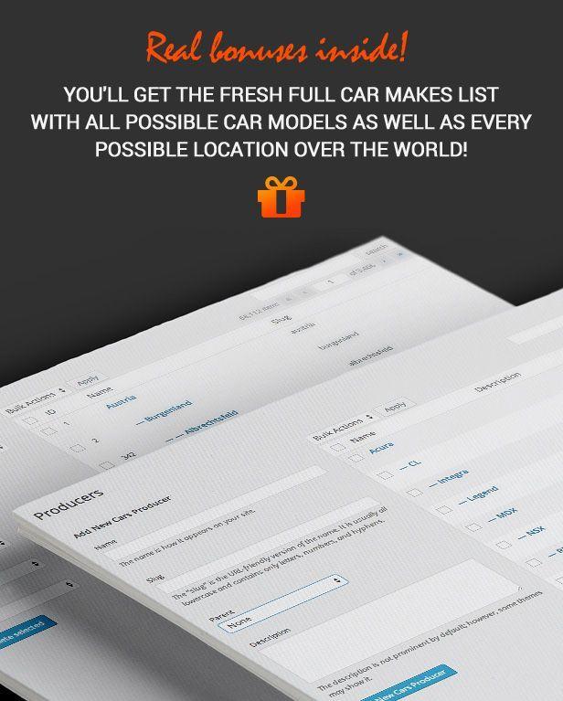 car classified vehicle database compressor  -  Car Dealer Automotive  - カーディーラー、自動車のワードプレスのテーマ
