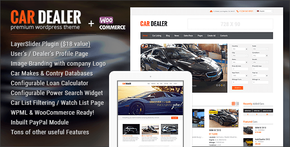 car dealer compressor  -  Car Dealer Automotive  - カーディーラー、自動車のワードプレスのテーマ