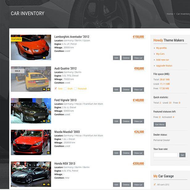car listing sold and featured labels compressor  -  Car Dealer Automotive  - カーディーラー、自動車のワードプレスのテーマ