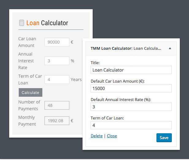 dealership wordpress theme loan calculator compressor  -  Car Dealer Automotive  - カーディーラー、自動車のワードプレスのテーマ