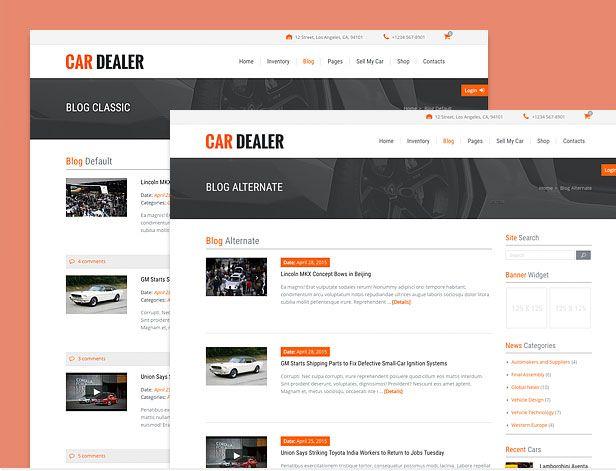 different automotive blog styles compressor  -  Car Dealer Automotive  - カーディーラー、自動車のワードプレスのテーマ