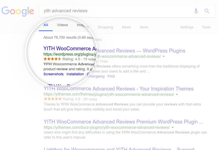 WordPress WooCommerce レビュープラグイン -  YITH WooCommerce Advanced Reviews 4