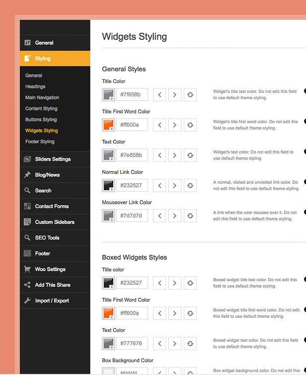 theme styling options compressor  -  Car Dealer Automotive  - カーディーラー、自動車のワードプレスのテーマ