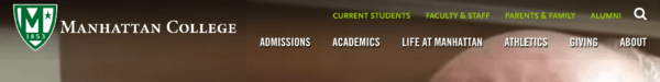 website menu Manhattan College 1 600x75 compressor  -  SEO(検索エンジン最適化)に有益なウェブサイトのメニュー構造