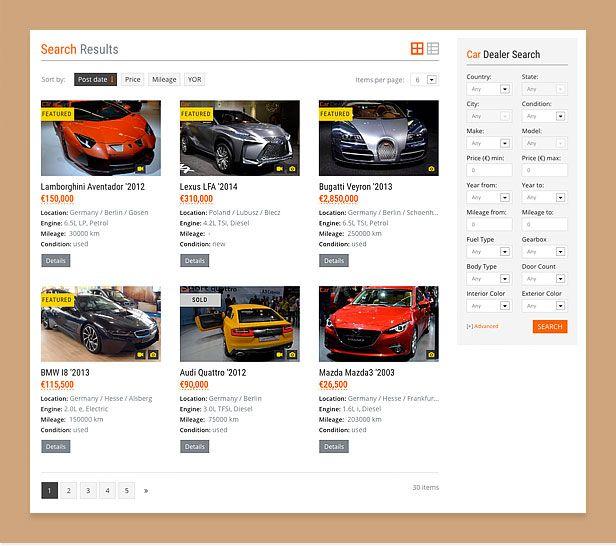 wordpress car theme search compressor  -  Car Dealer Automotive  - カーディーラー、自動車のワードプレスのテーマ