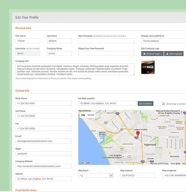 wordpress theme dealer profile compressor  -  Car Dealer Automotive  - カーディーラー、自動車のワードプレスのテーマ