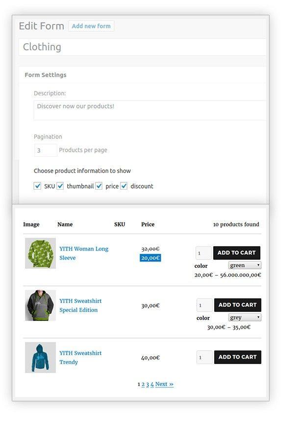 クイック注文のための WooCommerce用YITH Quick Order Formsプラグイン9