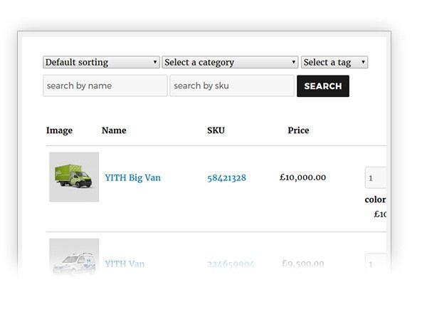 クイック注文のための WooCommerce用YITH Quick Order Formsプラグイン13