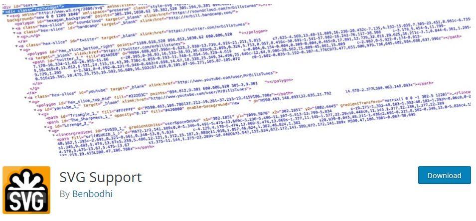 WordPress メディアライブラリでSVGをサポートしているSVG Supportプラグイン2