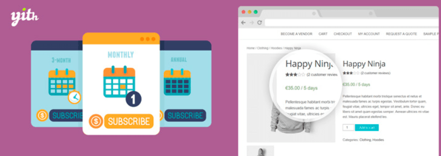 YITH WooCommerce Subscription compressor  - ワードプレスで定期決済(購読)を可能にするYITH WooCommerce Subscriptionプラグイン