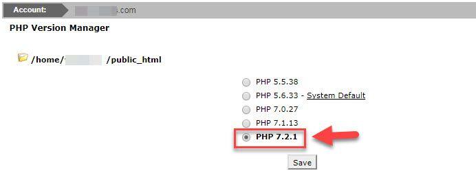 Siteground ホスティングでは、PHP 7.2をサポート10
