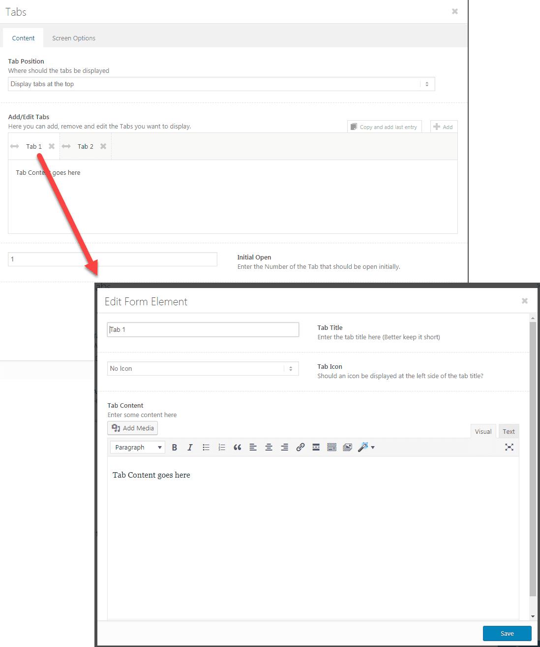 WordPress Enfold テーマでタブセクションの要素(Tab Section Element)を使用する11