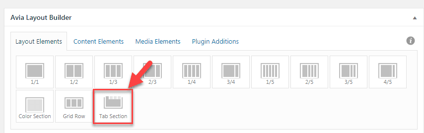 WordPress Enfold テーマでタブセクションの要素(Tab Section Element)を使用する7