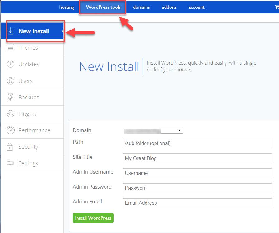Bluehost 共有ホスティングで WordPress 自動インストールが失敗した場合、4