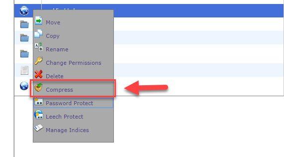 ブルーホストファイルマネージャを使用してフォルダを圧縮する方法