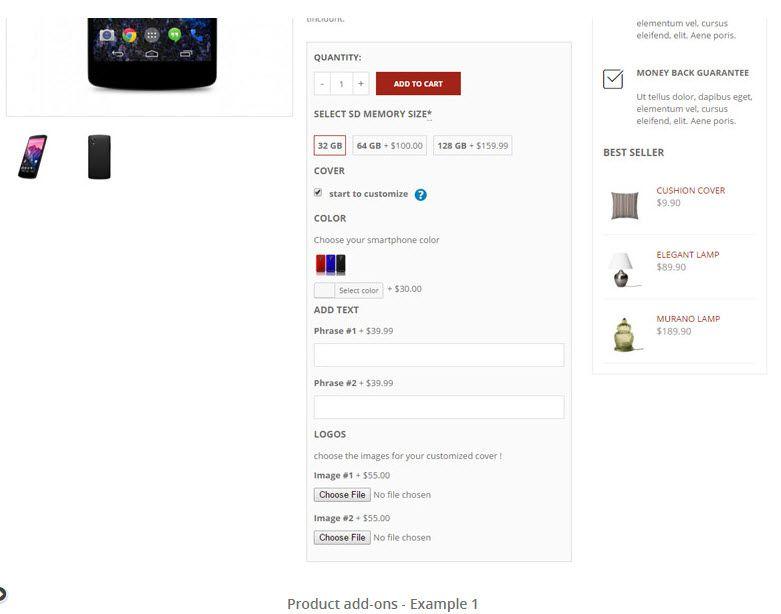 WordPress WooCommerce 商品アドオンプラグインYITH WooCommerce Product Add-Ons 6