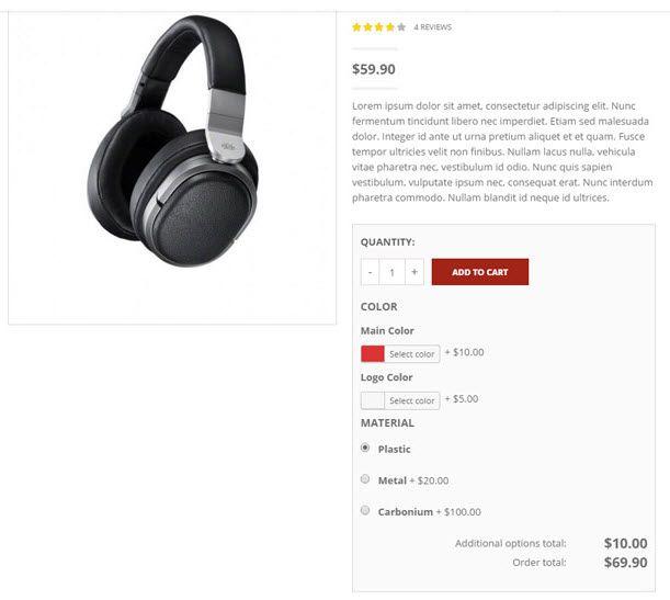 WordPress WooCommerce 商品アドオンプラグインYITH WooCommerce Product Add-Ons 7