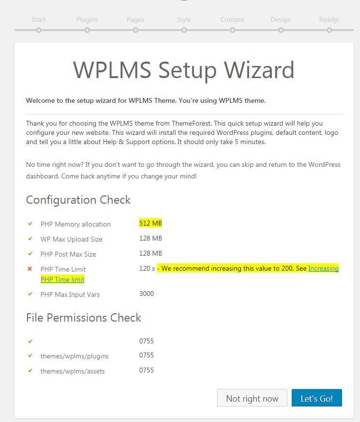 WordPress WPLMSテーマデモをインストールする14