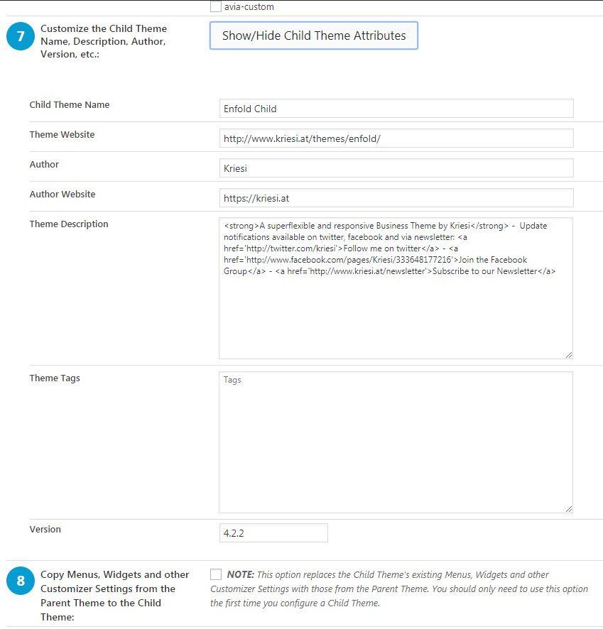 Child Theme Configuratorプラグインを使用して簡単に WordPress チャイルドテーマを作成する14