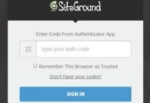 海外ホスティング SiteGround Siteground 2段階認証ログイン