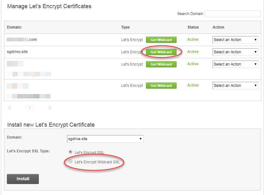 海外ホスティングサイトグラウンド無料ワイルドカードSSL証明書をインストール