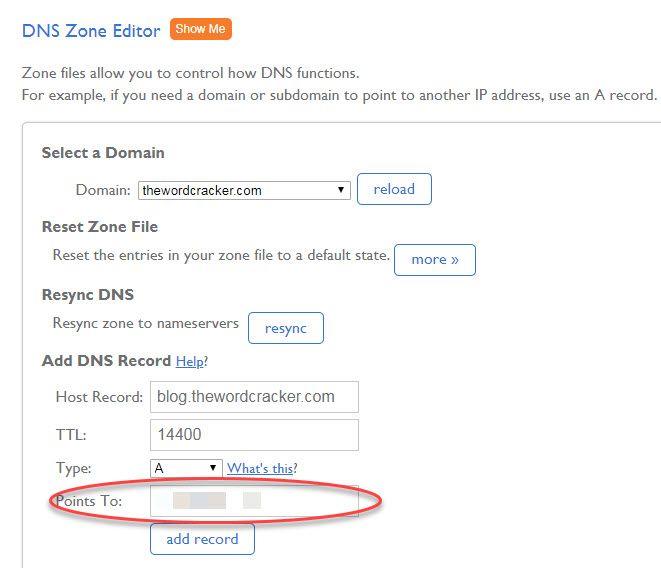 블루호스트 DNS 정보 변경하기