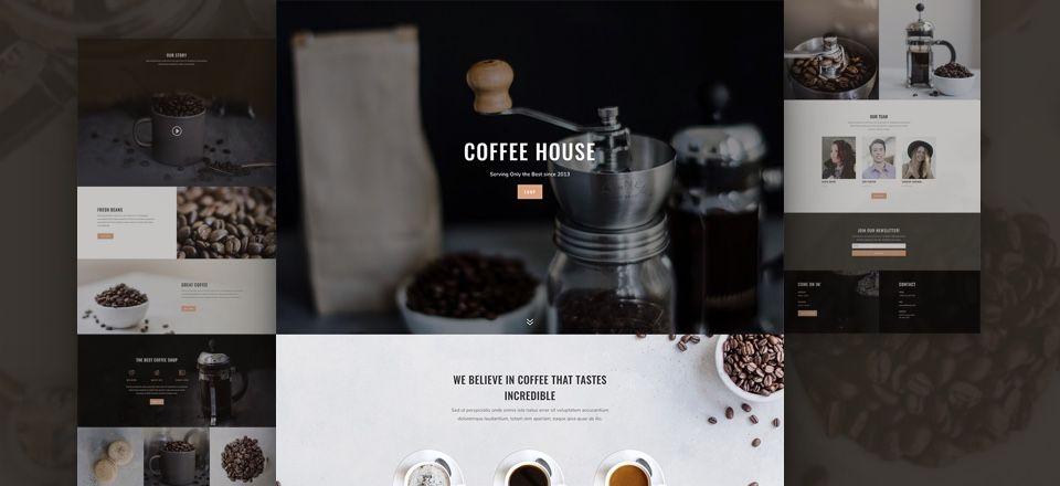Divi용 무료 커피숍 레이아웃 팩
