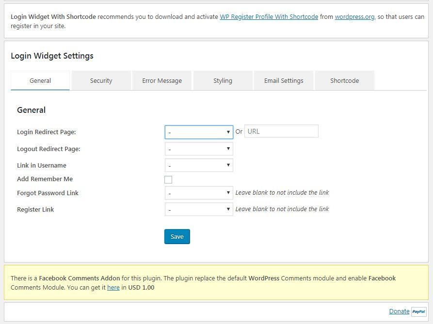 WordPress サイドバーのウィジェットログイン