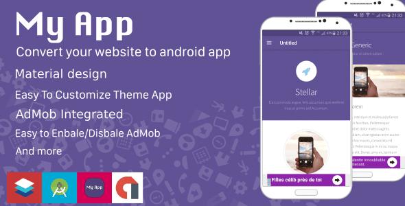 ウェブサイトをアンドロイドアプリに変換させてくれるMy App