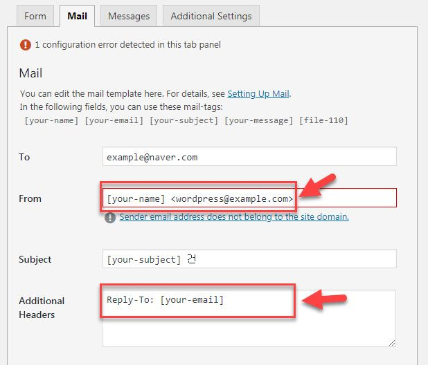 Contact Form 7からのメールを正しく設定する方法