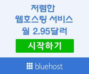 저렴한 웹호스팅 서비스 - 블루호스트