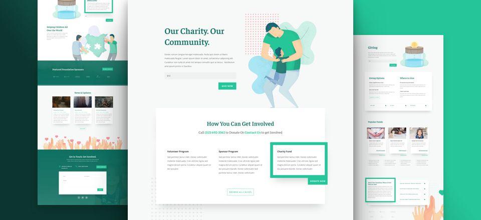 WordPress Diviテーマ - 慈善団体のレイアウトパック