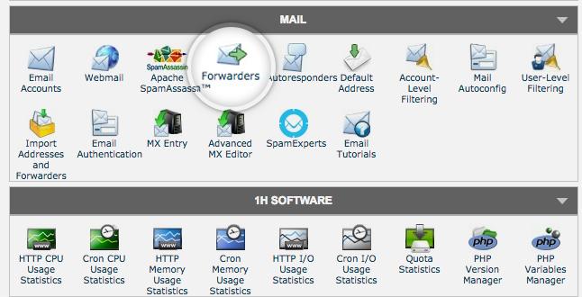 해외호스팅 사이트그라운드 이메일 포워딩 설정