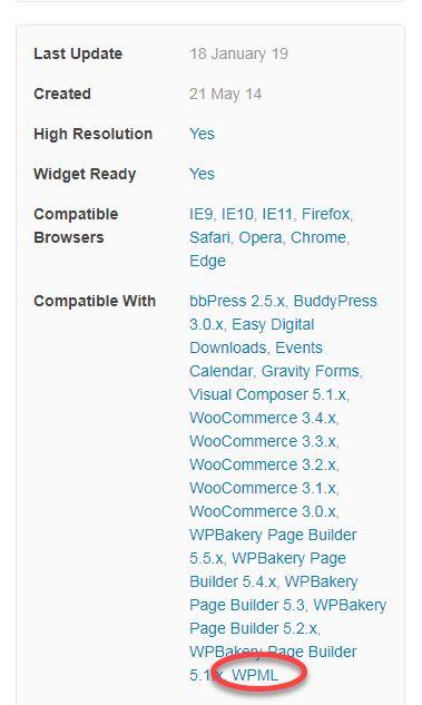 WPMLの互換性